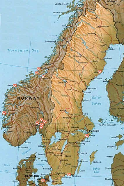 kart over sverige og norge Ilmarinen kart over sverige og norge